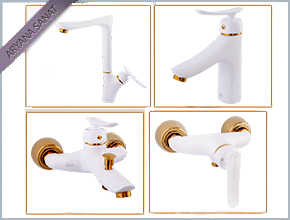 Set Mechanical Karoon White & Gold Color Model